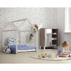 lit cabane montessori blanc