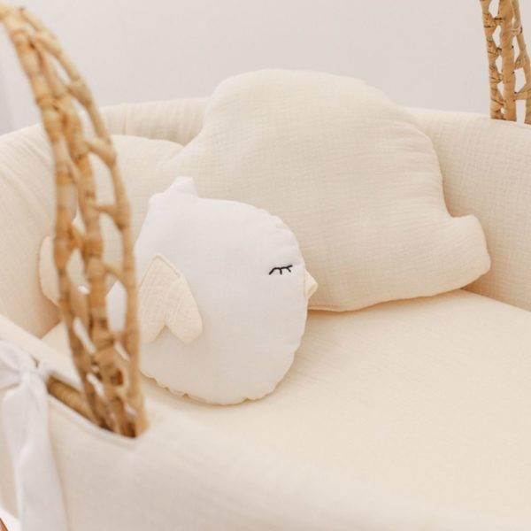 , Couffin bébé Crème avec pieds pliables en bois massif Cucos Baby