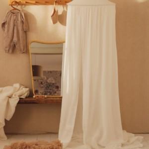 ciel de lit blanc en coton biologique