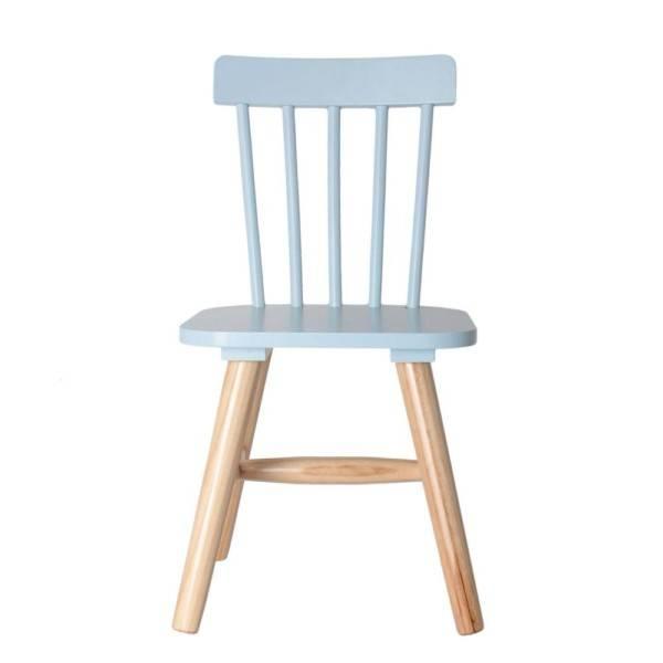 , Chaise à barreaux enfant bois bleu et naturel HD Factory