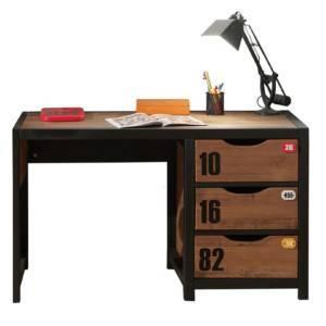 bureau style industriel avec 3 tiroirs