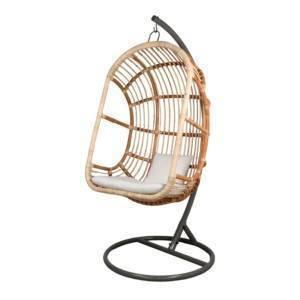 fauteuil suspendu en forme d'œuf avec coussin inclus