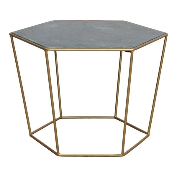 , Table basse Misterwils Dafné en marbre et laiton