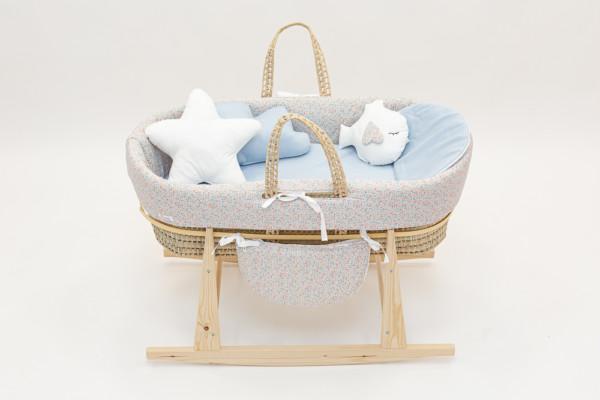 , Couffin Bébé/ Balancelle Cucos Baby Liberty Blue