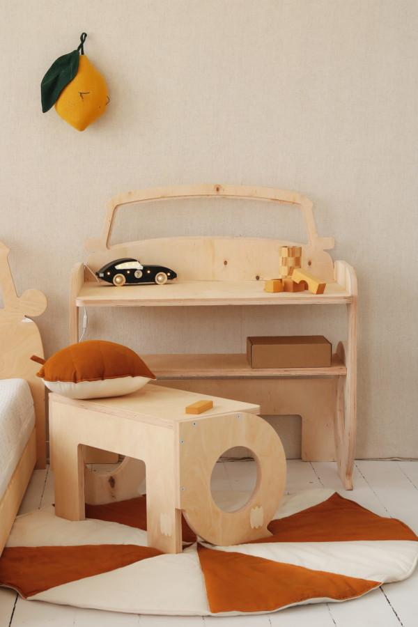 , Bureau voiture évolutif pour enfant BeMini en bois naturel écologique