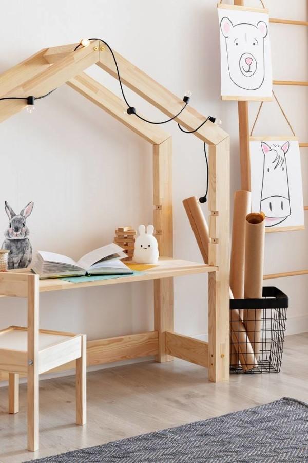 , Bureau cabane pour enfant en bois naturel de Talo