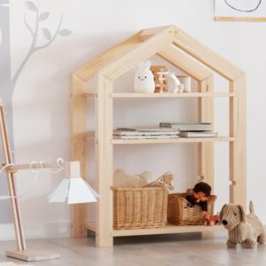 bibliothèque montessori en forme de cabane