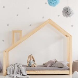 lit cabane montessori avec cheminée décorative