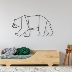 lit banquette en pin naturel dans chambre d'enfant