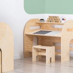bureau pour enfant avec tabouret assorti